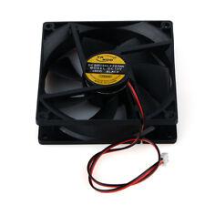 90mm*90mm DC12V 2Pin Cooling Fan for Computer Plastic Case CPU Cooler Black