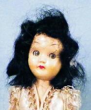 Marcie Ballerina Doll Hard Plastic Black Mohair Wig Blue Sleep Eyes 1950s 7.5in.