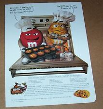 1997 print ad - M&M's Baking Bits candies candy CUTE red yellow Cookie Recipe AD