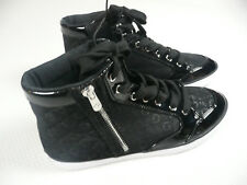 Guess WOMENS SIZE 8 High Top Sneakers WGRAYLEE-C Black Tennis Shoes #APP436