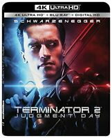 TERMINATOR 2 JUDGEMENT DAY 4K ULTRA HD + BLU RAY NEW! T2, JAMES CAMERON ACTION
