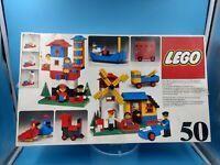 jouet lego vintage boite vide + polystyrène legoland 50 Building Set 70s