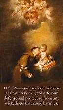 St. Anthony's Brief Prayer Card (wallet Size)