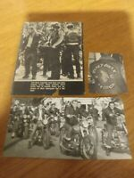 Vintage Hells Angels Motorcycle Gang Photos Cut Outs from a magazine