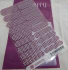Jamberry Boysenberry Chevron A881 Nail Wrap Full Sheet