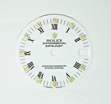 Rolex Midsize White 18K Oyster Perpetual Datejust Watch Dial