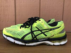 Asics Gel Kayano 22 Size US 10M EUR 44 Men's Running Shoes Yellow Black T547N CY