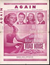Again 1948 Ida Lupino Roadhouse Orchestration Sheet Music