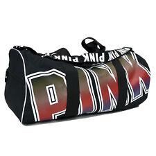 e9694d9f8e Victoria s Secret Pink Large Weekender Duffle Sport Gym Bag Black L Duffel