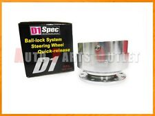 D1 Spec Genuine Silver Color Ball-Lock System Steering Wheel Quick-Release