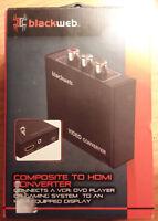 blackweb Composite to HDMI Converter