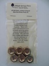 Ford NAA Jubilee Tractor Exhaust Manifold Brass Nuts Set of 6 with Lock Washers