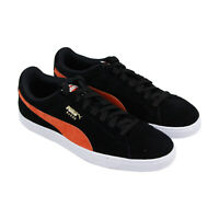 Puma Suede Classic Mens Black Suede Lace Up Sneakers Shoes