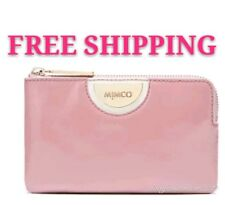FREE POST MIMCO ECHO BLUSH PINK GOLD TONE WIDE SMALL MIM POUCH WALLET RRP79.95