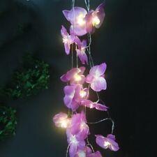 Dernier Classique Violet Fait Orchidée Flowerdecor Photographie Fairy Lumière