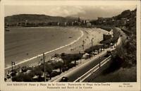 San Sebastian Espana Spanien AK 1952 Paseo y Playa de la Concha Promenade Strand