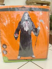 Mens Halloween costume Bleeding Skeleton - Bones XL 42-46 gloves robe mask pump+
