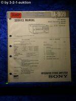 Sony Service Manual TA 909 Amplifier (#3357)