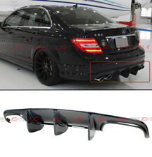 FOR 08-11 MERCEDES-BENZ C63 AMG BIG SHARK FIN CARBON FIBER REAR BUMPER DIFFUSER