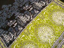 "One Gul Ahmed Panel BATIK Fabric Saree Cotton Printed Pagoda Craft 42"" x 92"" lg"