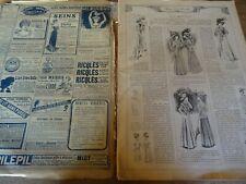 ANCIENNE REVUE MODE PRATIQUE  AVEC PLANCHE PATRONS + PATRONS DECOUPES 1908 N°29
