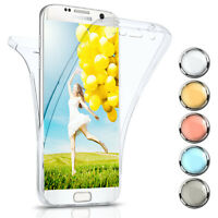 360 Grad Komplett Schutz Hülle für Samsung Galaxy S7 Edge Silikon Case Full Dünn