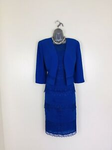 Condici Size 12  Royal Blue  Dress &  Jacket  Mother of the Bride or  Groom
