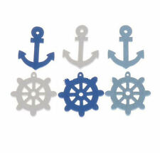 Nautical Wooden Embellishments x 20 Crafts, Card Making, Scrapbooking