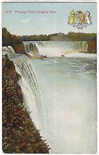 Prospect Point Niagara Falls Ny Crest Shield Mark Vintage Postcard Germany 1953