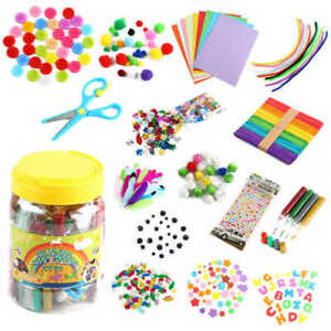 All in One Kids Arts and Crafts Supplies Kit DIY Crafting Collage Arts Set UK