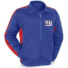 NEW YORK GIANTS SUPER BOWL NFL Football TRACK JACKET ZIP UP L LG Large NEW