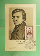DR WHO 1948 FRANCE MUSEUM SLOGAN CANCEL BLANC MAXIMUM CARD ART PORTRAIT  g19467