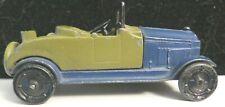 Vintage Tootsietoy GM Series Car #6001 Blue/Khaki Buick Roadster Nice Condition