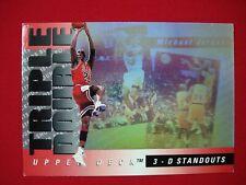 MICHAEL JORDAN 1993-94 UPPER DECK - 3-D STANDOUTS - TRIPLE DOUBLE HOLO CARD #TD2