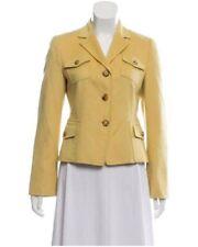 Akris Punto Womens Jacket Blazer Luxury Wool Angora US10 D40 Yellow
