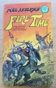 Fire Time by Poul Anderson, Vintage 1975 Ballantine Paperbacks