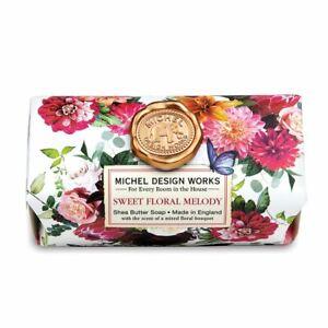 Michel Design Works Large 8.7 oz Artisanal Bar Bath Soap Sweet Floral Melody