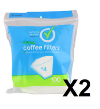 200 New #4 White Coffee Filters 8-12 Cup Cone Style Coffee Maker Filter Paper