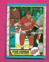 RARE 1989-90 OPC # L WINGS STEVE YZERMAN  BOX BOTTOM NRMT CARD (INV# C3170)
