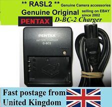 Genuine Pentax Charger D-BC2 D-L17 OPTIO 330 430 450 550 750 MX4 555 NP-120 F10