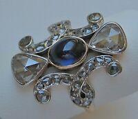 Ring mit Safir und Diamanten Diamantrosen 0,8 ct. antik 14 Kt. 585 Gold Gr. 55