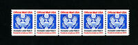 US Stamps # O139 VF Strip of 5 OG NH Catalog Value $30.00