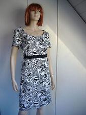 Geblümte knielange Damenkleider aus Polyamid