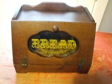 Vintage Bread Storage Wooden with Glass
