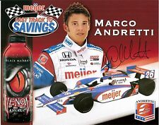 2009 MARCO ANDRETTI signed INDIANAPOLIS 500 meijer store PHOTO CARD POSTCARD wCA