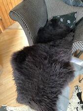 Double Sheepskin Rug 60 x 160cm black