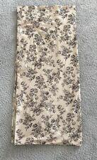 Vtg RL RALPH LAURENBlack Floral Toile Print Beige Full Flat Sheet