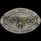 Shrine Shriners Bowl Football Game Championship KS 90s 1991 NOS Vtg Belt Buckle