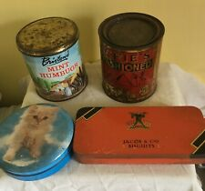 4 x vintage confectionary / biscuit  tins Bluebird, Jacobs etc lot 13