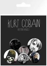 Cobain, Kurt Nirvana - 6 Ansteck Buttons für Fans